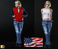 "1/6 Female Jacket Jeans Clothing Set For 12"" Phicen Hot Toys Female Figure ❶USA❶"