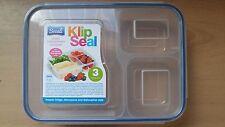 3 compartment Clip lock Box Storage Lunch Box Microwave Freezer Dishwasher Safe