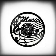 Orologio in Vinile da Parete -  Musica Piano Tastiera Note Tasti -  Idea Regalo