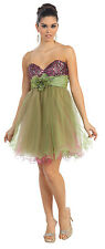 TheDressOutlet Mini Formal Prom Dress Cocktail Tutu Design Beaded Strapless