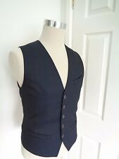 BNWT Ted Baker Navy Bandwai Textured Pattern Waistcoat size 3 M