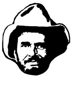Merle Haggard vinyl decal sticker country music legend nashville Okie from