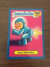 Garbage Pail Kids 2015 30th Blue Parallel - Rock Manuel 16b 80s Spoof Sticker