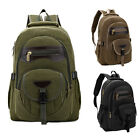 Men Women Vintage Canvas Backpack Rucksack Satchel Travel Hiking Laptop Bag
