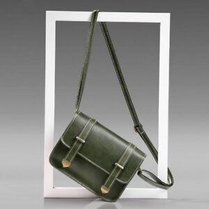 Women Leather Square Handbag Shoulder Crossbody Messenger Bag Satchel Tote Purse