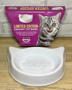 Whiskas Whiskers Ceramic Cat Food Water Bowl limited edition Unused