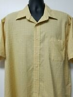Towncraft Wrinkle Free Mens Yellow Blue Plaid Size XL Button Down Shirt