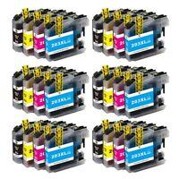 24pk LC203 XL Ink for Brother MFC-J680DW MFC-J880DW MFC-J885DW MFC-J460DW LC201