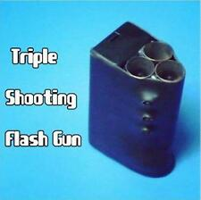 Triple Shooting Flash Gun - Stage Magic Trick,Street,Fire Magic accessory