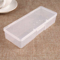 Clear Plastic Storage Box Jewelry Craft Nail Beads Container Organizer Case Tool