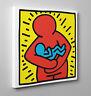 ❤️ Quadro HARING Maternità Poster Pannello Stampa su Tela Vernice Pennellate 🍼