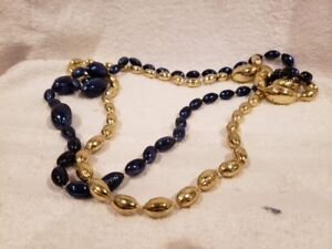 BEAUTIFUL Los Angeles Rams Blue & Gold Necklace/Beads, VERY COOL!!