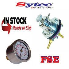 FSE SYTEC Ajustable Regulador De Presión De Combustible & calibre 1.5 - 6 Bar De Plata MSV001S