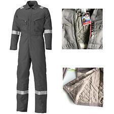 Mens Work Overalls Mechanics Coveralls Hi Viz Boiler Suit Insulated Fireproof