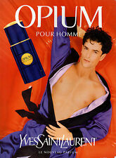 Publicité Advertising 1997  Parfum OPIUM pour homme de YVES SAINT LAURENT