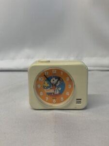 VERY RARE 1965 VINTAGE Peanuts Snoopy Red Baron Alarm Clock TESTED WORKS HTF