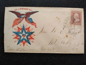 Civil War: Washington, DC 1860s #65 Patriotic Cover to Mount Holly