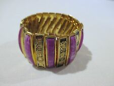 Chunky purple Asian Stretch Expansion Bracelet bead made in hong kong metal