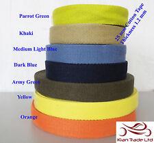 """25mm 1"""" Cotton webbing Tape soft Belt Fabric Strap Bag sewing dress craft-mkhn"""