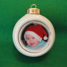 Custom Photo Ornament *YOUR PHOTO* Baby's 1st Christmas, Family, Holiday