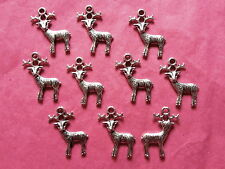 5 Pcs large pink Deer Enamel Alloy Charms Pink A0754