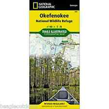 National Geographic Trails Illustrated GA Okefenokee National Wildlife Map 795