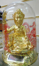 Solar Power Chinese Guan Gong,Kwan Kung,God,Statue,Ornament, Home,Car Decor,Gift