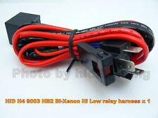 HID H4-3 9003 HB2 Hi High lo Low bike motorcycle Relay Bi Xenon Harness wire