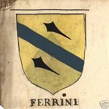 FAMIGLIA FERRINI E FANTINI STEMMA NOBILIARE 600esco