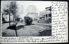 NEW YORK CITY NY~1905 RIVERSIDE DRIVE ~ OPEN AIR BUS PACKED WITH PEOPLE ~