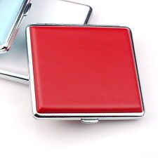 Red Leather Cigarette Box Case Hold For 20 Cigarettes 300B
