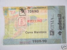 TORINO - AVELLINO BIGLIETTO TICKET 1989 / 90