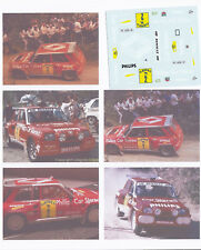 Decals 1/43e Renault 5 Maxi Philips Car Stereo G.Barreras Rallye Terre Avil 1989