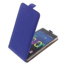 Funda para Wiko Fever 4G protectora teléfono móvil con tapa Carcasa Azul
