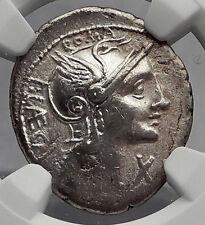 Roman Republic 110BC Rome CITIZEN Punishment LAW Ancient Silver Coin NGC i59955