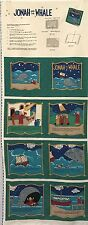 """Cotton Quilt Fabric Traditions Jonah and The Whale 1995 Soft Book  by  18"""" x 44"""""""