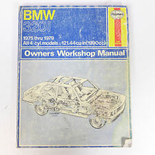 Vintage BMW 320i 1975 thru 1979 All 4-cyl. Models Owners Workshop Manual Haynes