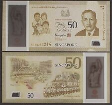 Singapore 50 Dollars, 2014-2015 P-New First National Day Parade 1966 Polymer Unc