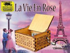 La vie en rose Spieluhr Musikuhr Musicbox Spielorgel Neu