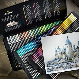 120 Colored Coloring Soft Pencils Set for Adults Artists Professional Featuring