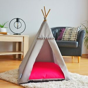 Cat Teepee bed - Raspberry, cat bed including pillow*luxury cat house*cat tent