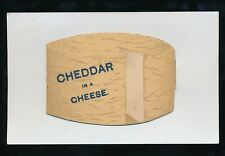Somerset CHEDDAR Novelty Pocket Cheese 1916 PPC