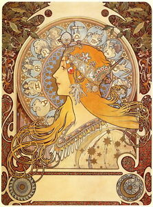 Alphonse Mucha Zodiac Giclee Canvas Print Paintings Poster Reproduction Copy