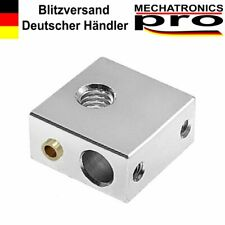 Heizblock mit Messing-Hülse für Thermistor MK7 MK8  M6 für 6mm Heater Hot End