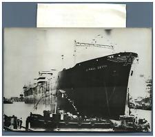 """Pétrolier """"J.P. Getty"""" à Dunkerque  Vintage silver print Tirage argentique"""