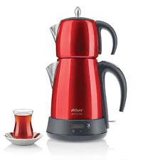 Moderner Elektirscher Teekocher Arzum Teemaschine Teebereiter Wasserkocher Rot