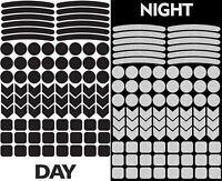 84 Reflektierende Reflektoren Aufkleber Reflektorband Schwarz Reflexaufkleber