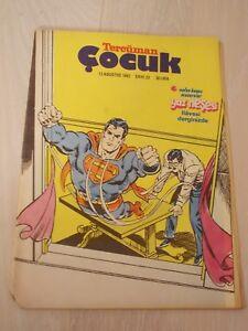 STAR WARS COMIC 1982 TURKISH RARE TURKEY SUPERMAN