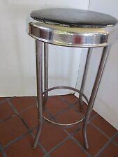 "Mid Century Chrome Stool vinyl Seat metal soda Fountain Original 1950's 24 1/2""T"