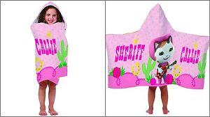 Sheriff Callie Towel, Beach, Hooded Bath Towel Wrap, Swimming Towel - Disney
